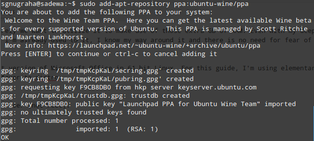 Adding Wine's Ubuntu PPA repository